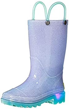 Western Chief Girls Waterproof Rain Boots That Light Up with Each Step Glitter Ombre 10 Toddler