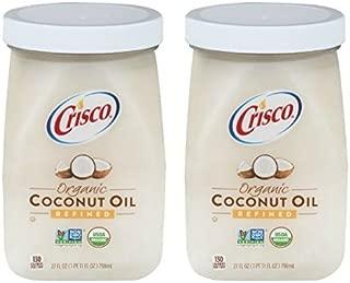 Crisco Organic Refined Coconut Oil, 27.0 FL OZ (2 jars)