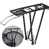 Portaequipajes Trasero Bicicleta Retráctil Aleación de Aluminio Bastidor del Poste del Asiento Trasero