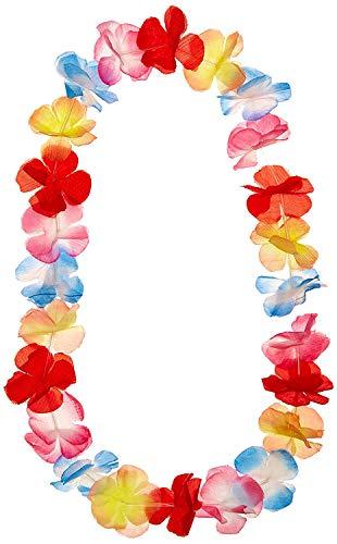 HUI JIN - Ghirlanda hawaiana multicolore in seta, 1 pezzo