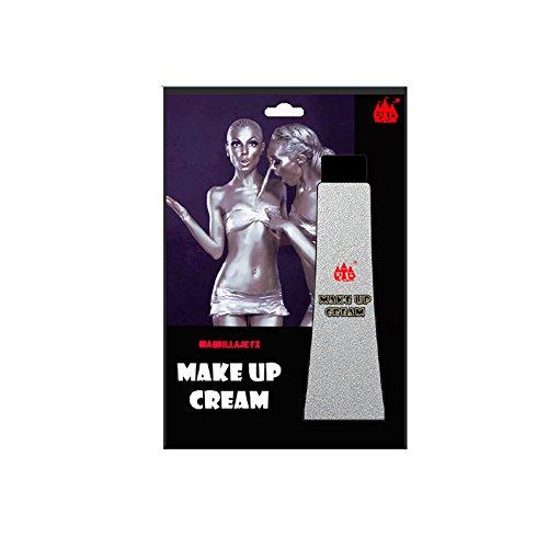 Maquillaje en Crema Plata (Tubo 28 ml) Pinturas Carnaval y Halloween