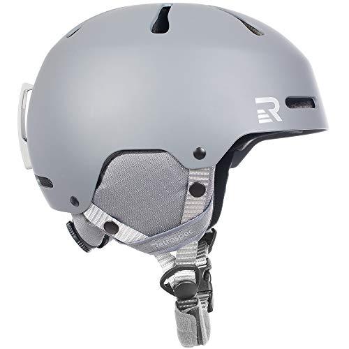Retrospec Traverse H3 Adult Ski & Snowboard Helmet with 10 Vents; Matte Charcoal, Large 59-62cm