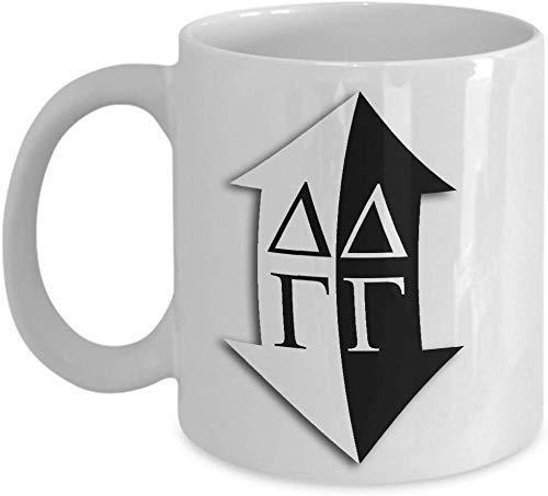 N\A Taza de la Hermandad de Delta Gamma Hermanas promesas Casa Taza de cerámica de Regalo para café, té, Bebidas