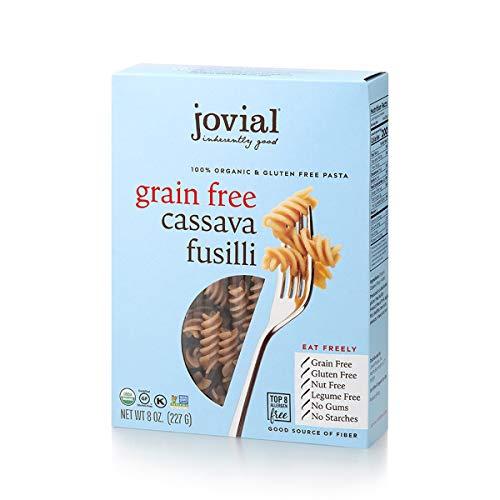 Jovial Grain-Free Cassava Fusilli   Cassava Pasta   Paleo Pasta   Grain-Free   Certified Gluten-Free   100% Organic Pasta   USDA Certified Organic   Non-GMO   High-Fiber   8 oz (1 pack)