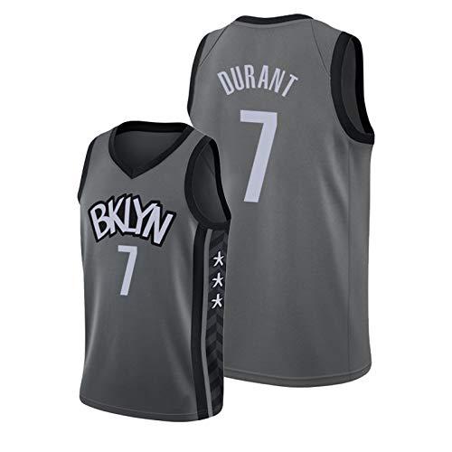 WDZG Camiseta de baloncesto Kěvin, para hombre, #7 Nets Declaración, edición de entrenamiento juvenil, sin mangas, chaleco de fitness L
