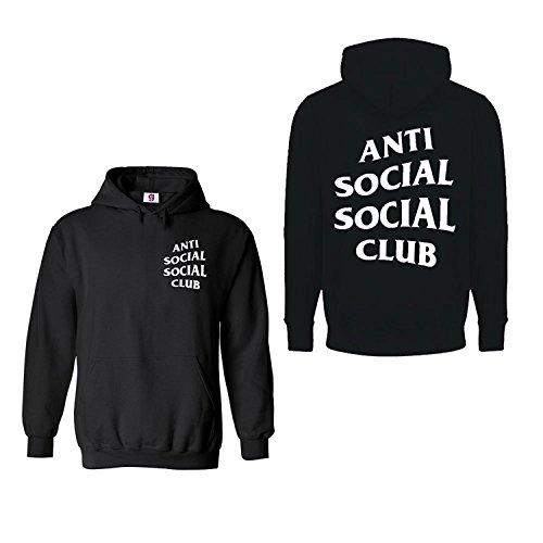 Inspirado Anti Social Club Impreso Sudadera Con Capucha Retr