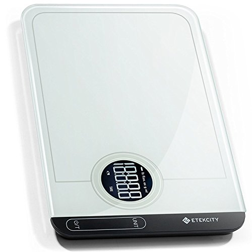 Etekcity Food Kitchen Scale, Digital Grams and Oz for Cooking, Baking, Weight Loss, Meal Prep, Shipping, and Dieting, 11lb/5kg, White