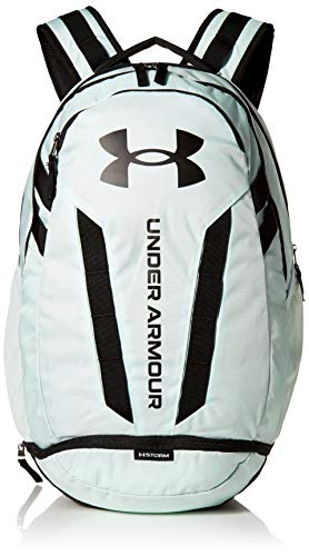 Under Armour Hustle Backpack, Seaglass Blue (403)/Black, One Size Fits All