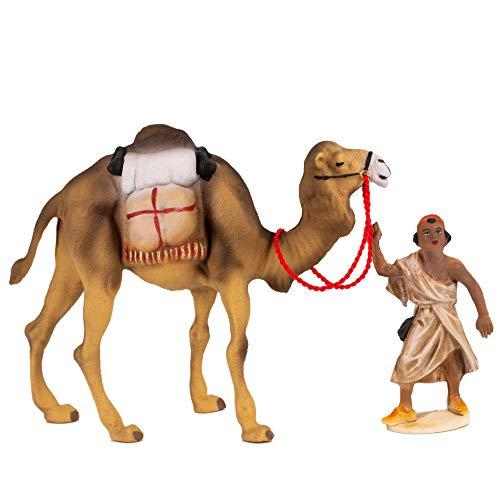 MAROLIN Kamel mit Gepäck und Treiber, zu 12cm Fig. (Kunststoff)