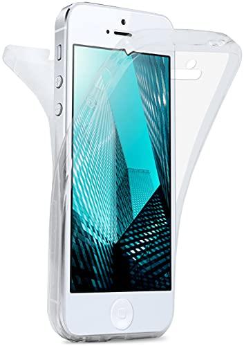 MoEx Cover Fronte-Retro in Silicone Compatibile con iPhone 5s / 5 / SE (2016) | Trasparente, Trasparente
