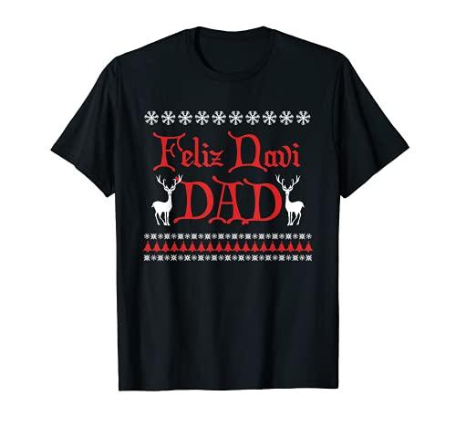 Herren Herren Feliz Navi Dad Funny Ugly Christmas Sweater T Shirt