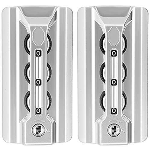 (YF-S102#) Un par / Set de bloqueo de contraseña de reemplazo para maletas equipaje viaje caja de contraseña reparación DIY