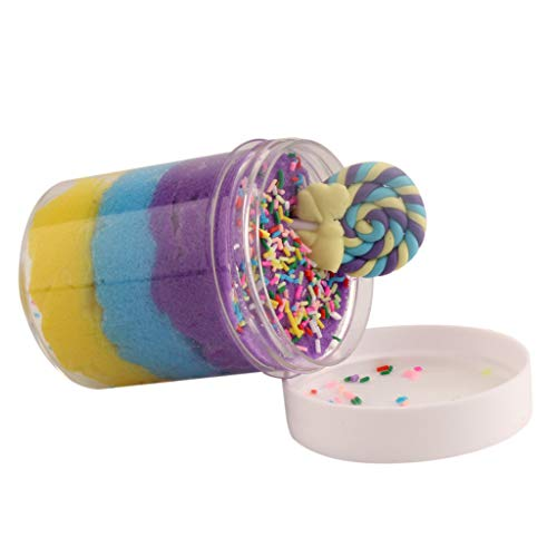 heavKin-toy Simulation Non-Stick Hand Slime ice Cream Cake Drawing mud Thousands of mud Decompression Toys 8 Colors (120ml) (E, 120ml)