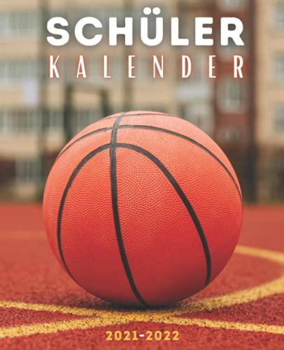 Schülerkalender 2021 2022 basketball: Wochenplaner 1 woche 2 seiten für schüler mädchen jungen | Schulplaner 2021 2022 | Schulsachen oberstufe universität | studienplaner 2021/2022 | Cover korbball
