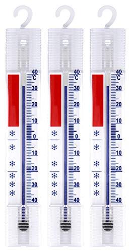 Lantelme 3 piezas Termómetro de Frigorífico Set Congelador Congelador Termómetro de Frío de Frigorífico Gancho Análogo + / - 40 °C 4883