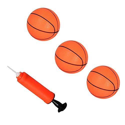 TOYANDONA 4pcs Articoli Sportivi Set 3 gonfiabili rimbalzante Palla da Basket Sportiva con Un gonfiatore per Bambini Bambini