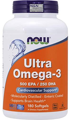 Ultra Omega 3 (180 sotgels) - Now Foods - 500 EPA - 250 DHA