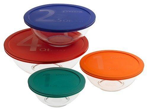 Pyrex Smart Essentials 8-Piece Mixing Bowl Set by Pyrex
