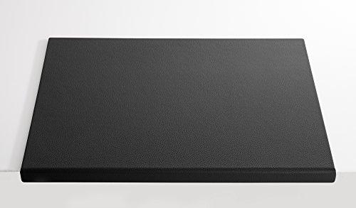 C. Matthey Schreibunterlage aus feinem italienischen Rindleder 50 x 70 cm, 0,5 cm dick, mit abklappbarem Winkel ca. 3 cm breit, Farbe: schwarz - Handmade in Germany