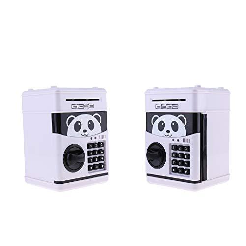 Generic Caja de Ahorro para Cajero Automático con Cerradura de Código de Banco Cerdito con Contraseña Electrónica para Niños de 2 Piezas