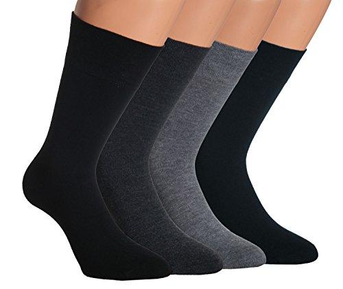 Vitasox 33348 Herren Socken Wolle feine Herrensocken Wollsocken Businesssocken einfarbig ohne Gummi ohne Naht schwarz 6er Pack 43/46