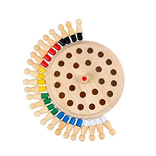 Juguete Junta de mesa clásicos de memoria partida de ajedrez de madera de juguete Juego de mesa para niños ideal para una familia...