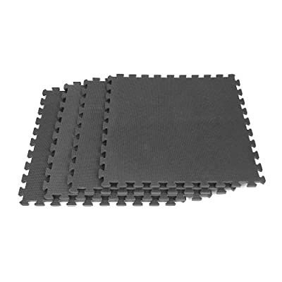 Foam Mat Floor Tiles, Interlocking EVA Foam Padding by Stalwart - Soft Flooring for Exercising, Yoga, Camping, Kids, Babies, Playroom