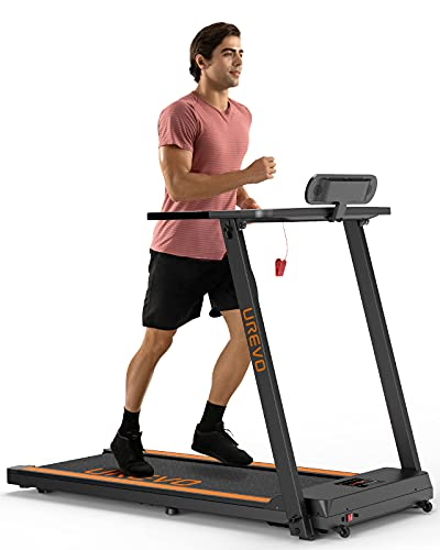 UREVO Treadmills for Home, Max 3.0 HP Folding Treadmills for Running and Walking Jogging Exercise with 12 Preset Programs, Tracking Pulse, Calories - 2021 Updated Version