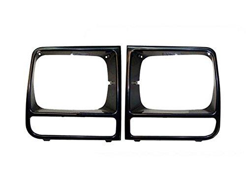 Bundle 1997-2001 Fit Jeep Cherokee Se/Sport Headlight Door Bezel Raw Black Lh & Rh