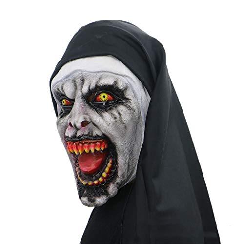 HS-ZM-06 Halloween Maske Terrorist Nonne Kopfbedeckung Lustige Maske Terrorist Streich Requisiten Rollenspiele Zubehör Spukhaus Bar Party Dekoration Karneval Maske
