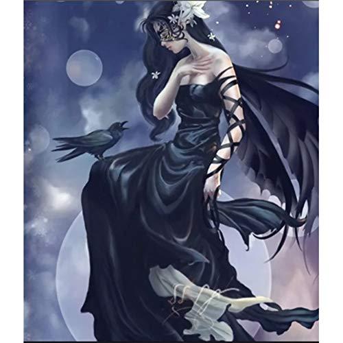 DIY 5D vrouw in zwart lange jurk diamant borduurwerk schilderij diamant schilderij kruissteek diamant mozaïek huisdecoratie 30x40cm