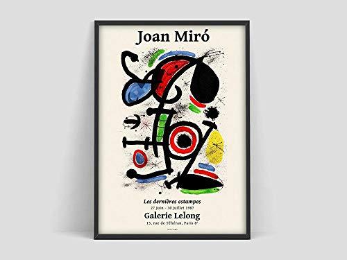 Joan Miró Poster, Galerie Maeght (Galerie Maeght) Druck, Joan Miró, Joan Miro (Joan Miro) Druck, Ausstellungskunstwerk, Kunstdruck, Wandbild, Poster, zu Hause rahmenlose dekorative Gemälde Z32 50x70cm