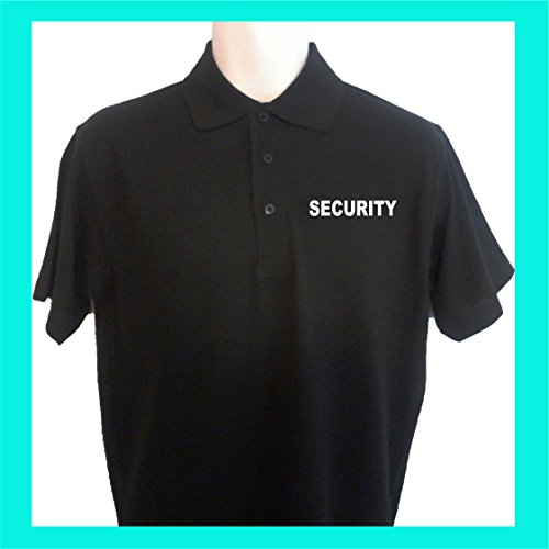 KUSTOM PRINTED PERSONALISED UNISEX SECURITY POLO SHIRT MET PRINT op voorrug
