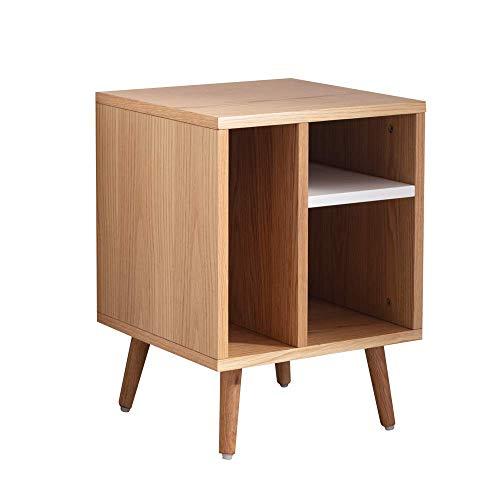 Amazon Brand - Movian Shelf Storage Night Stand, End Table, 40 x 40 x 55 cm, Oak Effect