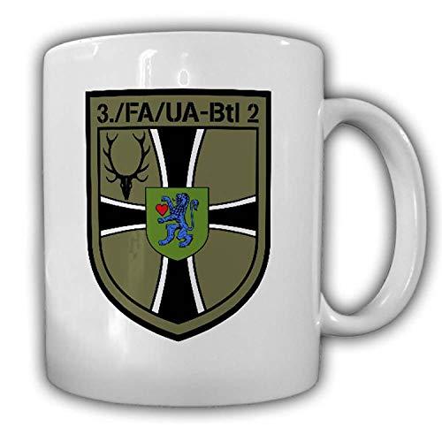 Tasse 3 FA-UA Btl 2 Kompanie Feldwebelanwärter Unteroffizieranwärterbataillon Geweih Bundeswehr Bückeburg Wappen #23174