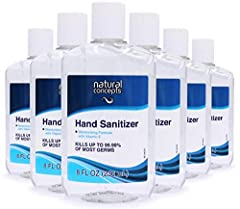KILLS GERMS: Effective at eliminating 99.9% of most common harmful germs and bacteria. BULK PACK: 6 Count 8 oz bottles can conveniently be used or used at home, work, or school. EASY: Dispensing cap for a smooth gel application that evaporates quickl...