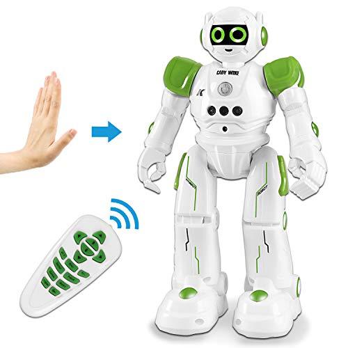 HBUDS Fernbedienung Roboter Spielzeug, Gestische Steuerung RC Roboter für Kinder, Programmierbare Wiederaufladbare Robotik Singen, Tanzen, Gehen Jungen, Mädchen, Kinder