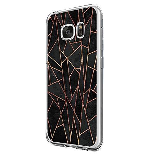 14chvily Kompatibel mit Galaxy S6 Hülle, Marmor-Design Silikon S6 Handyhüllen Bumper Ultra Dünn Durchsichtig TPU Schutzhülle für Galaxy S6 (03)