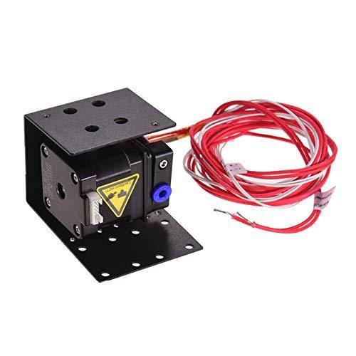 Leeofty 3D Drucker Extruder Remote Feeder Feeding Kit mit 1,5 Meter Heizungsrohr 0,4 mm Düsenkopf 42 Schrittmotor Metallextruder Verbesserter Ersatz für 1,75 mm Filamentdurchmesser
