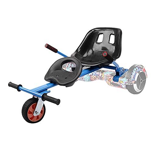 """TGHY Hoverkart Kart de Hoverboard Asiento Doble Marco Ajustable Convierte Tu Scooter Autoequilibrante en Un Kart Se Adapta a Aerotabla de 6.5"""" 8"""" y 10"""" Hace Queconducción Sea Más Divertida,Azul,PU"""