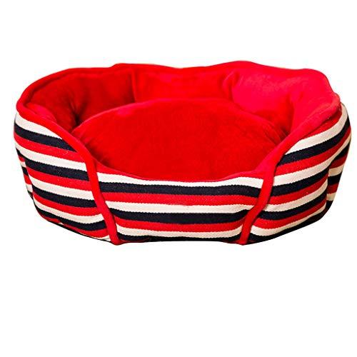 JM- Pet Pet Bed - Mittelgroßer Hund/fette Katze, maschinenwaschbar, ultraweiches Sofasofa Lounge Sofa abnehmbarer Bezug (Farbe : B, größe : S)