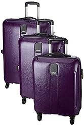 Safari Thorium Stubble Combo Set of 3 Purple Small, Medium & Large Check-in 4 Wheel Hard Suitcase,Safari Industries (India) Ltd,THORIUMSTUBLE3P4WMPU