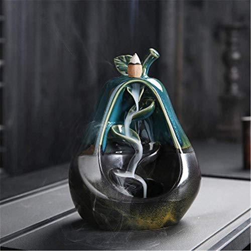Weihrauchhalter Wasserfall Räuchergefäß Aromatherapie Dekor Ofen Räuchergefäß Keramik Backflow Rauchen Wheel Brenner Backflow Räucherrohr, 2 Xping (Color : 2)