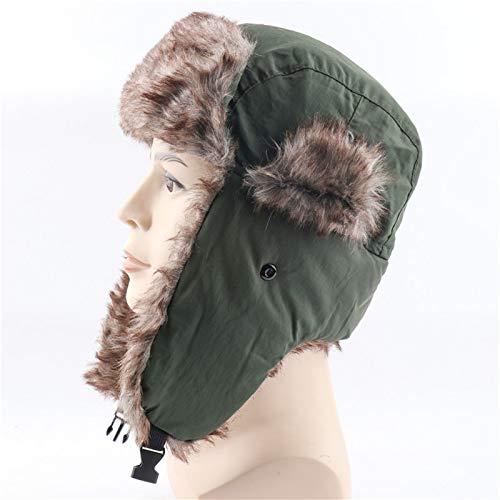 JLCSM Sombrero de Invierno Sombreros para Mujeres a Prueba de Viento a Prueba de Agua a Prueba de Agua Trooper Grueso Sombrero de esquí Sombrero de Soldado