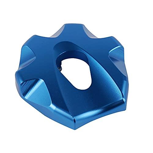 Tapa del Tanque De Combustible Gas Combustible Tank Cap Fit Uso para Husqvarna Te FE TX FX 65 125 150 250 300 350 450 501 2014-2021 TC65 2017-2021 2020 2019 2018 (Color : Blue)