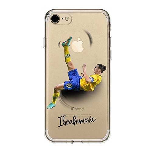 IP7 / IP8 Cover TPU Gel Trasparente Morbida Custodia Protettiva, Soccer Collection, Zlatan Ibrahimovic, iPhone 7, iPhone 8