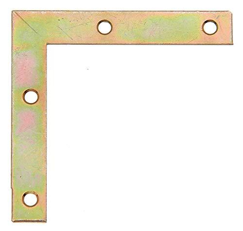 GAH-Alberts 337018 Möbelwinkel | galvanisch gelb verzinkt | 75 x 75 x 12 mm | 8er Set