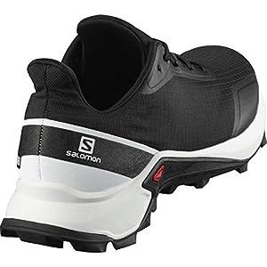 Salomon Men's ALPHACROSS Trail Running Shoe, Black/White/Monument, 10.5