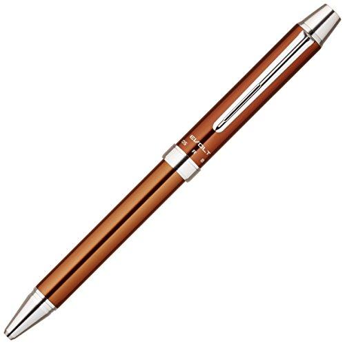 Pilot 2 Plus 1 Evolt 2 Color 0.7mm Ballpoint Multi Pen, 0.5mm Mechanical Pencil, Brown Body (BTHE-1SR-BN)