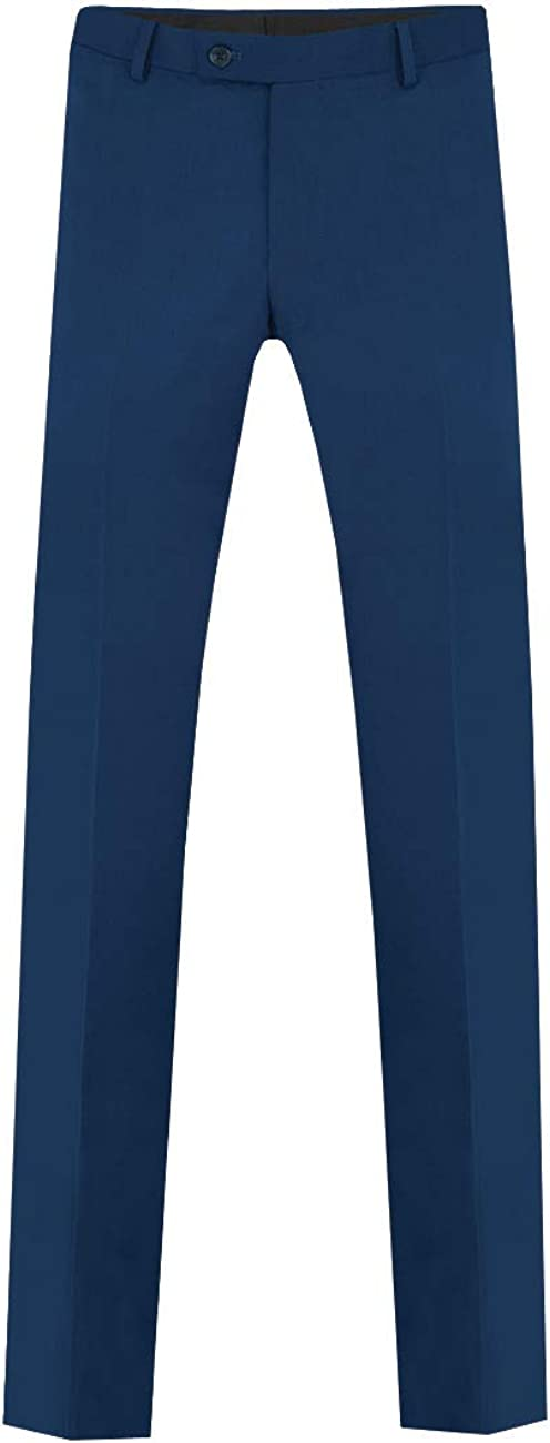 Dobell Boys Bright Blue Suit Pants Regular Fit